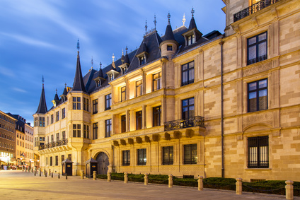 Grand Ducal Palace in the dusk, Luxembourg city